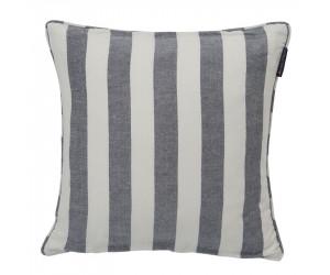 Lexington Viskose-Leinen Dekokissen Stripe Sham blau/weiß (50 x 50 cm)