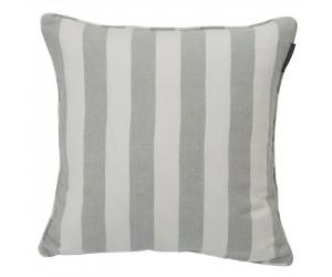 Lexington Viskose-Leinen Dekokissen Stripe Sham grün/weiß (50 x 50 cm)