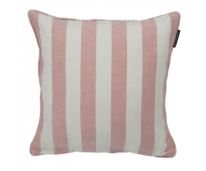 Lexington Viskose-Leinen Dekokissen Stripe Sham rosa/weiß (50 x 50 cm)
