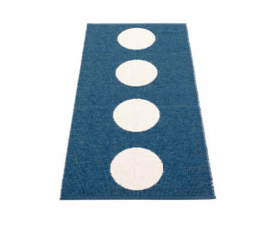 Pappelina Outdoor Teppich/Läufer 70x150 cm navy / vanille