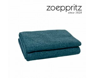 Zoeppritz Plaid Soft-Wool pfauenblau-790