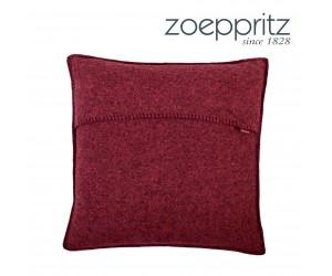 Zoepritz Dekokissen Soft-Wool rot
