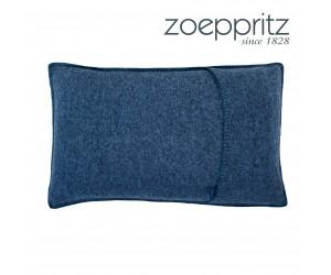 Zoeppritz Dekokissen Soft-Wool blau