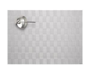 Chilewich Tischset  Domino rechteckig silber