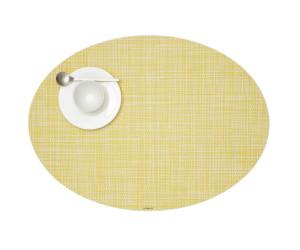 Chilewich Tischset Mini Basketweave oval gelb -036 (36x49 cm)