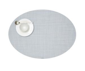 Chilewich Tischset Mini Basketweave oval himmelblau -035(36x49 cm)