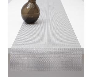 Chilewich Tischläufer Trellis silber -001 (36x183 cm)