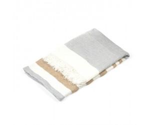 Libeco Leinentuch Belgian ash stripe