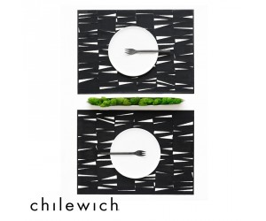 Chilewich Set Rechteckig The Modern schwarz