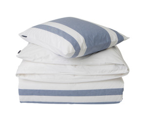 Lexington Bettwäsche Blue Horizontal Striped Poplin Bedding