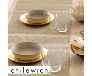 Chilewich Tischset Tuxedo Stripe gold