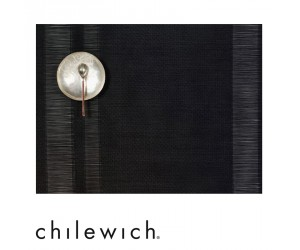 Chilewich Tischset Tuxedo Stripe schwarz