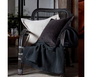 Lexington besticktes Samt-Dekokissen Hotel Velvet Sham with Embroidery grau (50x 50 cm)