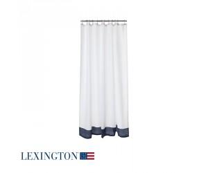 Lexington Duschvorhang Border in blau/weiß