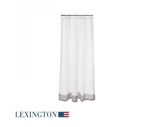 Lexington Duschvorhang Border in weiß/grau