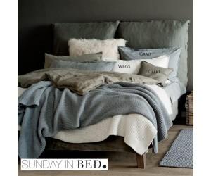 Sunday in Bed Bettwäsche Washed Linen Khaki