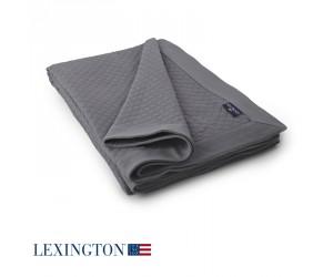 Lexington Bettüberwurf Washed Diamond dunkelgrau