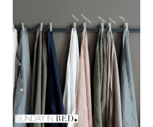 Sunday in Bed Bettwäsche Washed Linen taupe