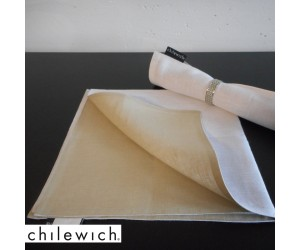 Chilewich Serviette Double/ Reversible weiß/natur
