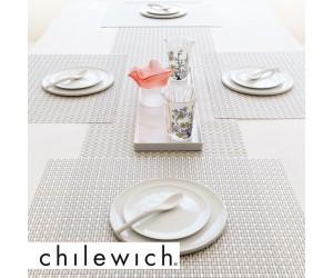 Chilewich Tischset Wicker platinum