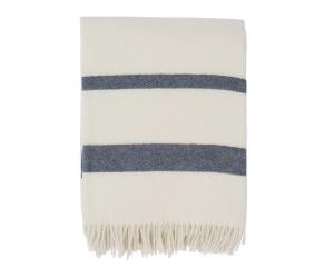 Lexington Wolldecke Hotel Wool Throw weiß/blau (130x170cm)
