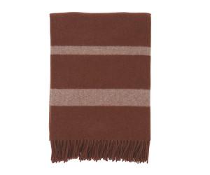 Lexington Wolldecke Hotel Wool Throw chestnut/weiß (130x170cm)