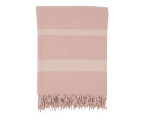 Lexingtin Wolldecke Hotel Wool Throw rosa/weiß (130x170cm)