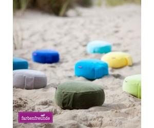 Farbenfreunde Yogakissen sommerpetrol