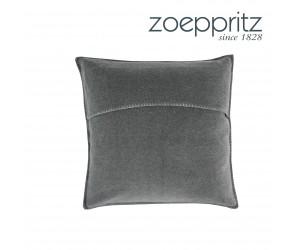 Zoeppritz Dekokissen Soft-Fleece mittelgrau