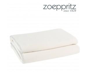 Zoeppritz Plaid Softfleece weiß -010 (4 Größen)