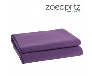 Zoeppritz Plaid Soft-Fleece purple/aubergine