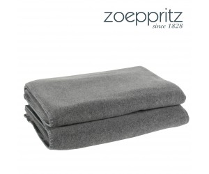 Zoeppritz Plaid Soft-Fleece mittelgrau