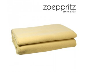 Zoeppritz Soft Fleece Plaid curcuma