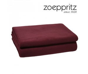 Zoeppritz Plaid Soft-Fleece burgunder