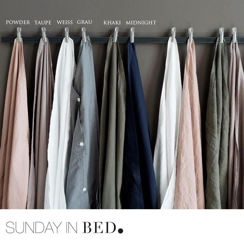 Sunday In Bed Bettwäsche Washed Cotton 6 Farben