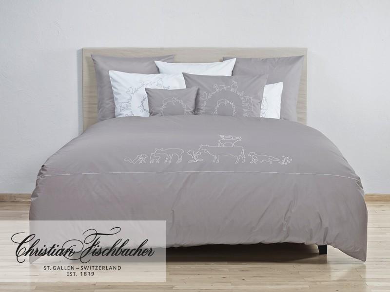 christian fischbacher bettw sche alpina wei. Black Bedroom Furniture Sets. Home Design Ideas