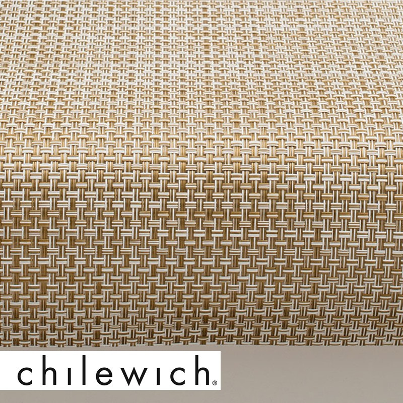 chilewich l ufer basketweave wei gold. Black Bedroom Furniture Sets. Home Design Ideas