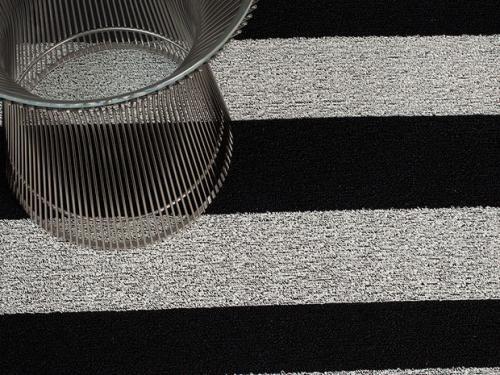 Chilewich Teppich Bold Stripe Schwarz Wei 223