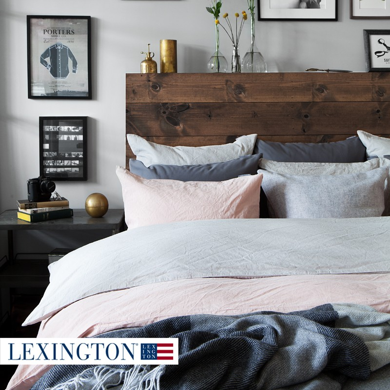 lexington urban baumwoll leinen bettw sche rosa. Black Bedroom Furniture Sets. Home Design Ideas