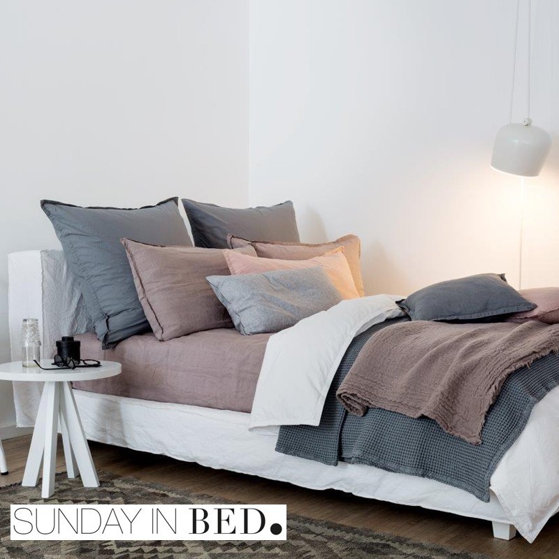 sunday in bed bettw sche washed cotton 6 farben. Black Bedroom Furniture Sets. Home Design Ideas